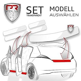 PR-Folia SET Ladekantenschutz + alle Einstiegsleisten in TRANSPARENT, Lack-Schutz-Folie, Ladekante + Tür-Einstiege passend für gewähltes Modell