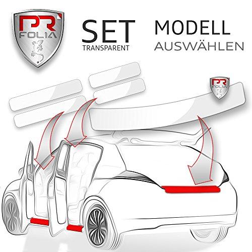PR-Folia SET passend für - Golf 7 / VII Limousine (Typ AU ab 10/2012) Ladekantenschutz + Einstiegsleisten in TRANSPARENT, Lack-Schutz-Folie