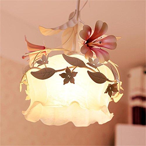 TOYM UK-ferro battuto lampada lampadario fiori testa singolo piccolo ristorante creativo rustiche