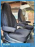 Maß Sitzbezüge kompatibel mit FIAT Ducato 250 Fahrer & Beifahrer ab BJ 2006 Farbnummer: PL408