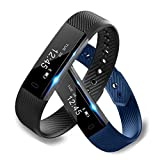 JSGDSH ID115 Smart Armband Fitness Tracker Schrittzähler Fitness Wecker Vibration Armband pk ID107 Fit Bit mi Band 2