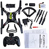 kingtoys® JJRC H8C RC Quadcopter 4CH 360 ° Voltea 2.4GHz control remoto RC Drone con 6-Axis Gyro 2MP FPV cámara RTF - Negro