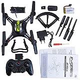 kingtoys® JJRC H8C RC Drone 4-CH 2.4GHz 6-Axis Gyro 360 ° Capovolge Telecomando RC Quadcopter con HD 2MP FPV Camera RTF, Nero