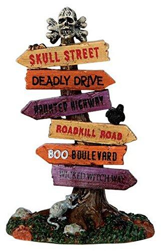 igns - Monströses Straßenschild - Spooky Town - Polyresin - Figuren & Zubehör für Halloween (Lemax-halloween)