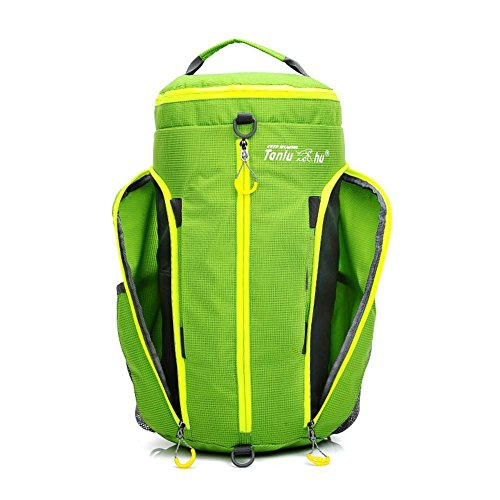Huntvp Zaino Sportivo 40L Borsa a Tracolla Marsupio Impermeabile per Campeggio Alpinismo Escursionismo Ciclismo Viaggio Trekking Sport porpora