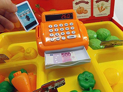 Brigamo 8323 – Hofladen Kinder Kaufladen mit Kasse, Spielzeug Obst und Gemüse - 2