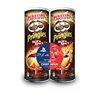 Pringles Hot & Spicy Flavored Chips Gaming Bundle 165 grams Pack of 2 cans