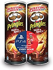Pringles Hot & Spicy Flavored Chips Gaming Bundle 165 grams Pack of 2