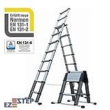 EZSTEP Kombileiter teleskopierbar 3 m, für die professionelle Anwendung EN 131-6