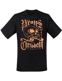 Pirates Of The Caribbean - Orange Skull T-Shirt noir (S)
