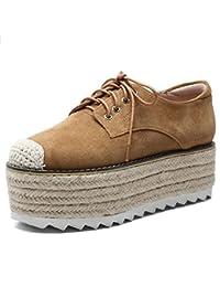 c02563f2 Zapatos de Mujer Tacones Altos Muffin Cabeza Redonda con Zapatos de Mujer  Zapatos Planos Ocasionales Mocasines