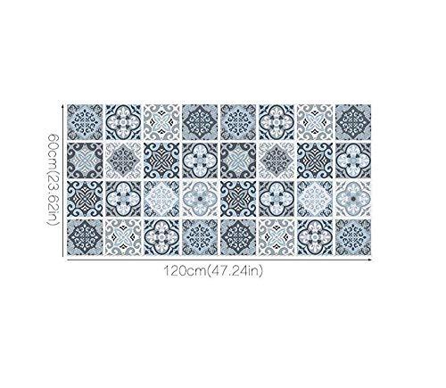 CHENOOXX Los muebles de estilo nórdico Salón baño alfombra adhesivo resistente al agua