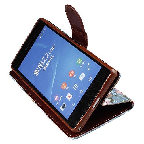 xhorizon® Retro Luxuriös Blumen Flip PU Leder Tasche Portemonnaie Stehend Case Hülle für iPhone 5 5S + Reinigungstuch Stift Weiß Stil