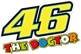 46The Doctor Valentino Rossi 175mm Autocollant de qualité en vinyle