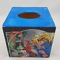 De madera Retro Marvel Hero diseño caja de pañuelos Tissue Cover Holder Dispensador de servilletas soporte