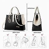 BestoU Handbags for Ladies, PU Leather Crossbody Ladies Handbags Shoulder Bags For Women, Work (Black)