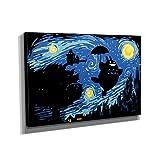 Spirit Night - Kunstdruck auf Leinwand (60x90 cm) zum Verschönern Ihrer Wohnung. Verschiedene Formate auf Echtholzrahmen. Höchste Qualität.