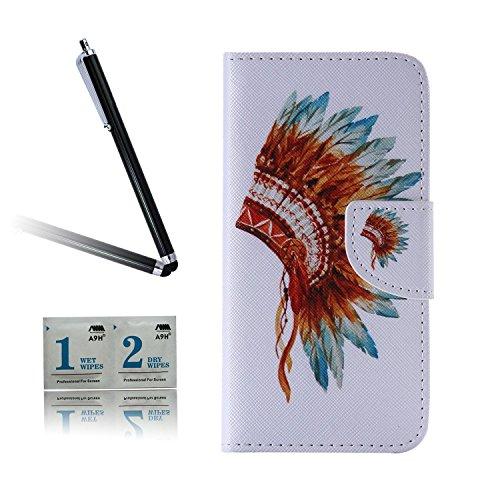 ARTLU® BQ Aquarius M5.0 Taschen Schalen PU Leder Tasche Schutzhülle Hülle Handy Etui Schale mit Ständerfunktion und Kreditkartenfächer für BQ Aquaris M5 (5.0 inches)A08