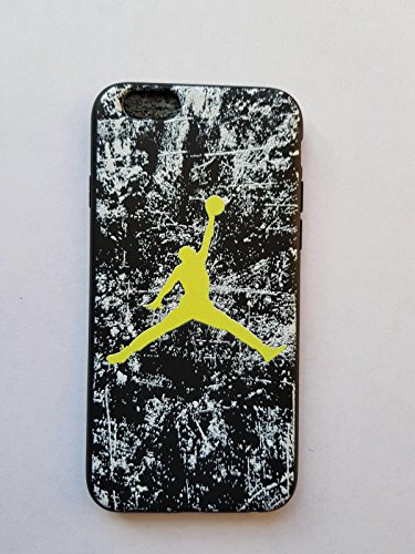 NEW AIR JORDAN LOGO JUMP SOFT PC CASE FOR APPLE IPHONE 5/5S CRACKS WHITE BLACK SHADE GREEN WHITE BLACK