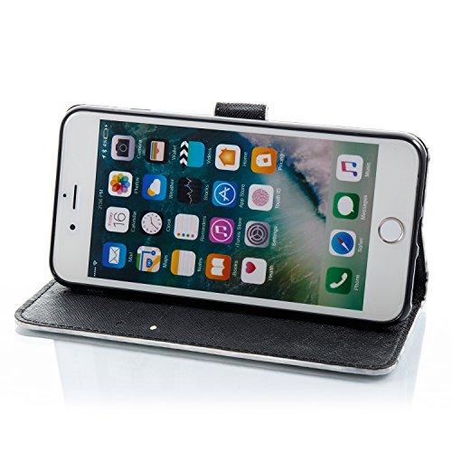 iPhone 6S Plus Hülle,iPhone 6 Plus Schutzhülle, iPhone 6S Plus Marmor Handyhülle,iPhone 6 Plus / 6S Plus Leder Wallet Tasche Brieftasche Schutzhülle,Cozy Hut® Weiß Grau Design Marmor Muster PU Lederhü beige Marmor