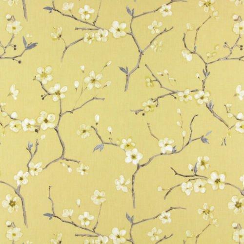 EMI Blumen Baum Baumwolle Bedruckt Vorhang Polster Stoff by Prestigious - Meterware - Mimosa