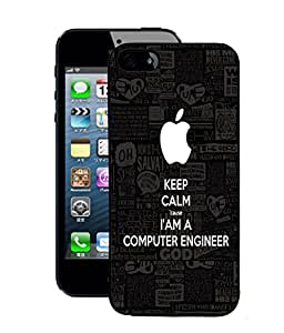 Fuson 2D Printed Computer Engineer Wallpaper Designer Back Case Cover for Apple iPhone 5S - D675