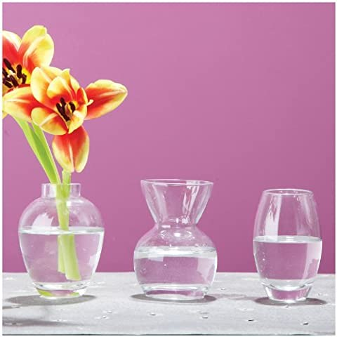 Two's Company Menage A Trios Bud Vases In Gift Box, Includes 3 Assorted Shapes, Hand Blown Glass, Set of 3 by Two's Company - Vase Trio