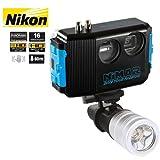 Unterwasser Digitalkamera Nikon Pack Nikon AW110 mit Gehäuse 60m und Lampe