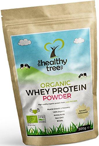 [SVENDITA] Proteine Whey Bio in Polvere 300g (non aromatizzate): con Misurino da 15g - 80% di whey proteine organiche pure provenienti da mucche nutrite con erba