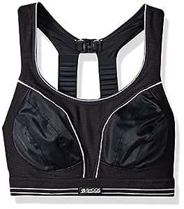 Shock Absorber B5044 Women's Run Sports Bra - Black/Silver, 30A