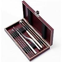 Myoyo Set von 8 Ohr-Pick Ohr Wachs Entfernung Reiniger Multifunktions Beauty Tool Kit Holzkiste preisvergleich bei billige-tabletten.eu