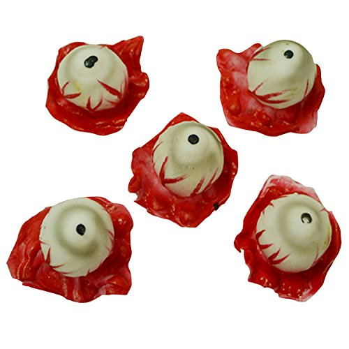 Petalum Halloween Augäpfel Kunststoff Augäpfel Kunststoff Rot Augen Requisiten Kostüm 5 Stücke