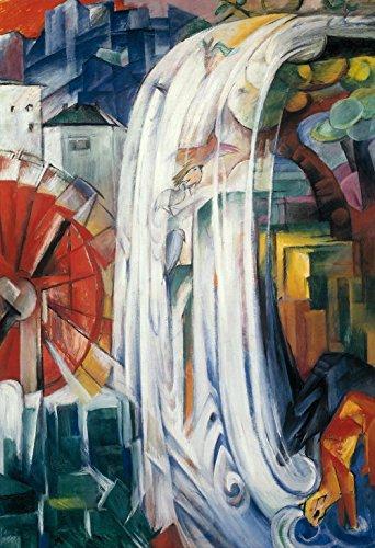 Das Museum Outlet-Franz Marc-Die Bewitched Mühle, gespannte Leinwand Galerie verpackt. 29,7x 41,9cm