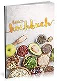 Dékokind Leeres Kochbuch: Für über 80 Lieblingsrezepte || Ca. A5 Softcover || Rezeptbuch zum Selbstgestalten / Selberschreiben mit Inhaltsverzeichnis || Motiv: Low Carb