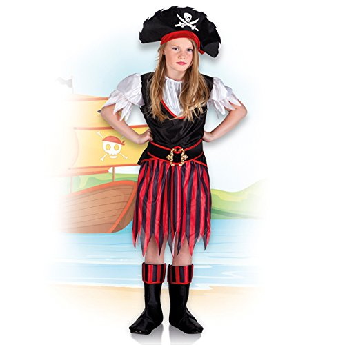 PARTY DISCOUNT NEU Kinder-Kostüm Piratin Annie, 7-9 Jahre