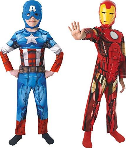 Imagen de marvel 154992s  disfraces para niños, vengadores  capitán américa iron man, talla s