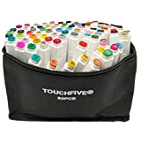 Touchfive Marker 80er Set Touch Brush Marker neue Generation (für Animation)