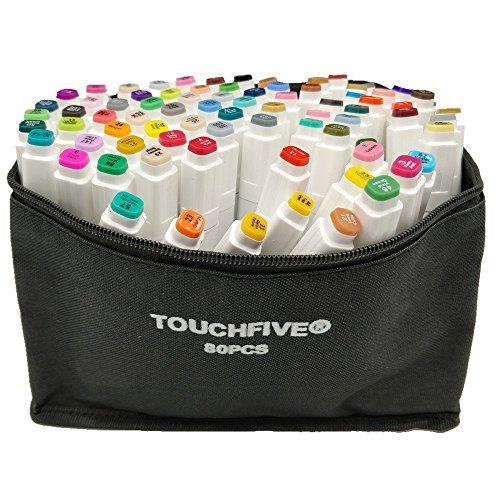 Touchfive Marker 80er Set Touch Brush Marker neue Generation (für Animation)