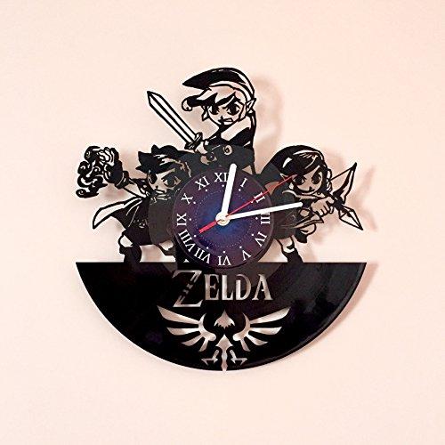 My STORE For YOU The Legend of Zelda-Vinyl Wand Uhr Geschenk Room Modern Home Record Vintage Dekoration Riegel (Bauteil) für Sie und Ihn