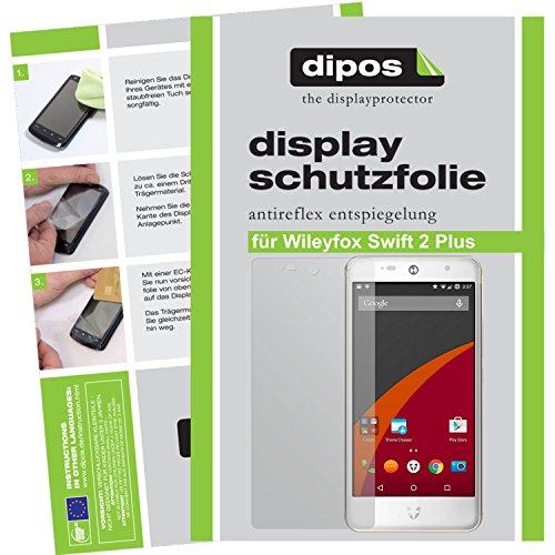dipos I 6X Schutzfolie matt passend für Wileyfox Swift 2 Plus Folie Displayschutzfolie