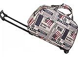 Moda Carro de la compra de mano equipaje de la bolsa de la cabina de viaje con rueda con palanca retráctil impermeable plegable American Flag