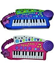 Henicx : 24 Keys Piano Synthesizer Keyboard / Multi Function Musical Kids Toy with Music , Lights and Recording (Multi / Assorted Colour )
