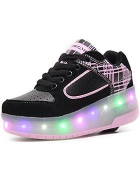 SIKAINI Led Scarpe Da Ballo Luminose Scarpe Per Bambini Skate Boys Ragazze Sneakers Con Bobine Scarpe Automatiche