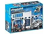 Playmobil- City Action Giocattolo Centrale della Polizia, Multicolore, 9372