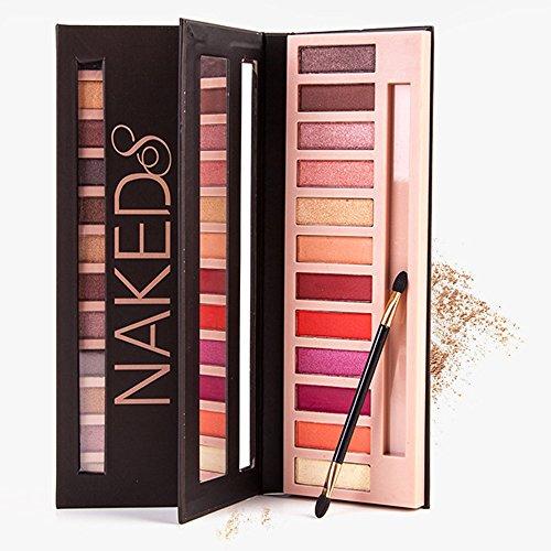 12 Farben Lidschatten Palette matten Schimmer Lidschatten Palette Kosmetik Make-up (D) -