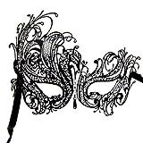 DSstyles Diamante Luxus venezianischen Stil Metall filigranen Masquerade Maske Prom Ball Verona M7