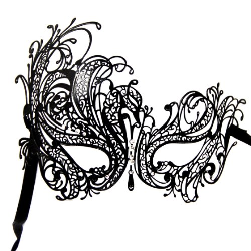 DSstyles Diamante Luxus venezianischen Stil Metall filigranen Masquerade Maske Prom Ball Verona ()