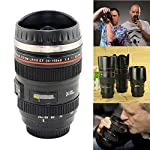 Black Travel Coffee Mug cup Thermos Tea Stainless Lens Camera Lens Cup 24-105mm