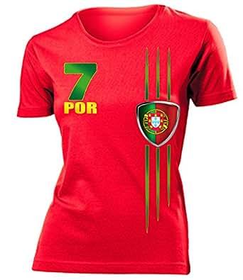 FUSSBALL - PORTUGAL FANSHIRT 3215(F-R) Gr. S