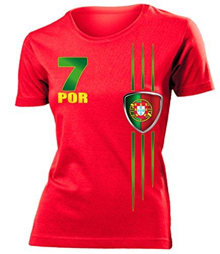 FUSSBALL - PORTUGAL FANSHIRT 3215(F-R) Gr. L